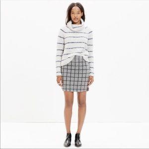 Madewell Gridley short gray skirt